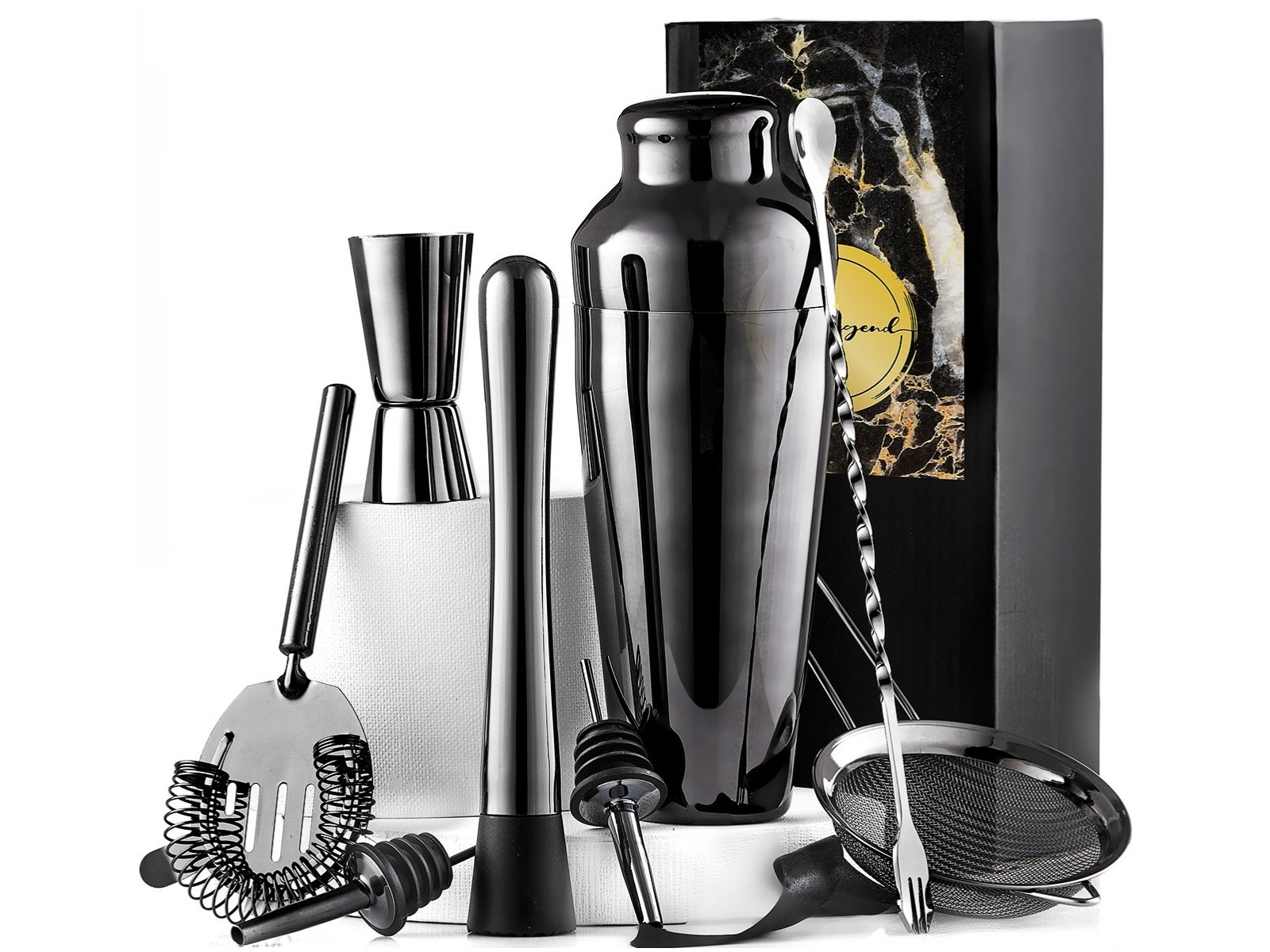 Gun Metal Mixology Set True Legend