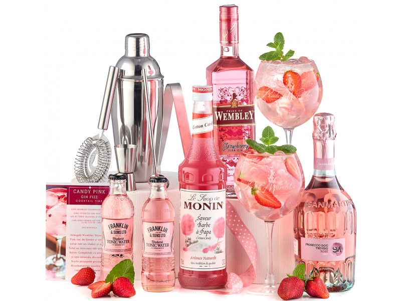 Candy Pink Gin Fizz Cocktail Party