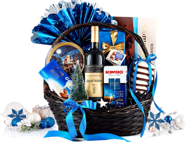 Cos Cadou Christmas Blue Edition